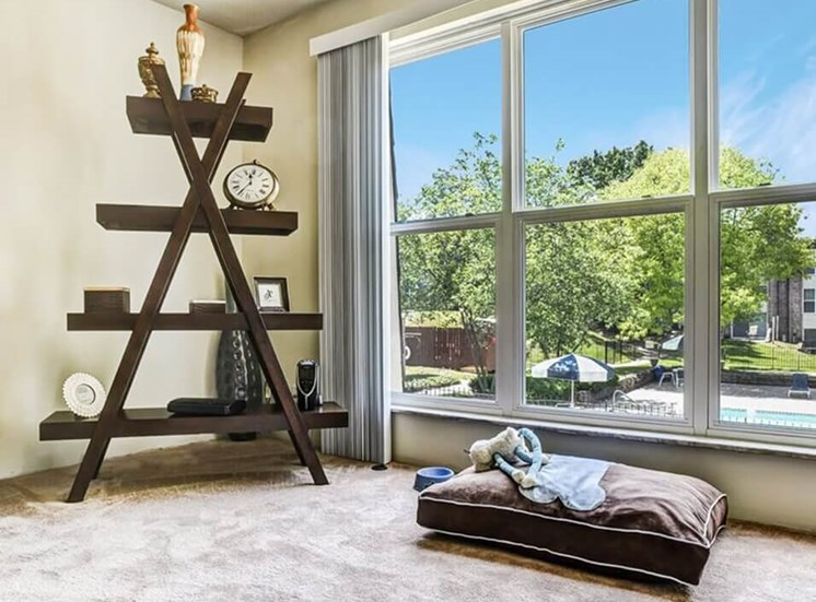 large windows at Carriage Hill Apartments
