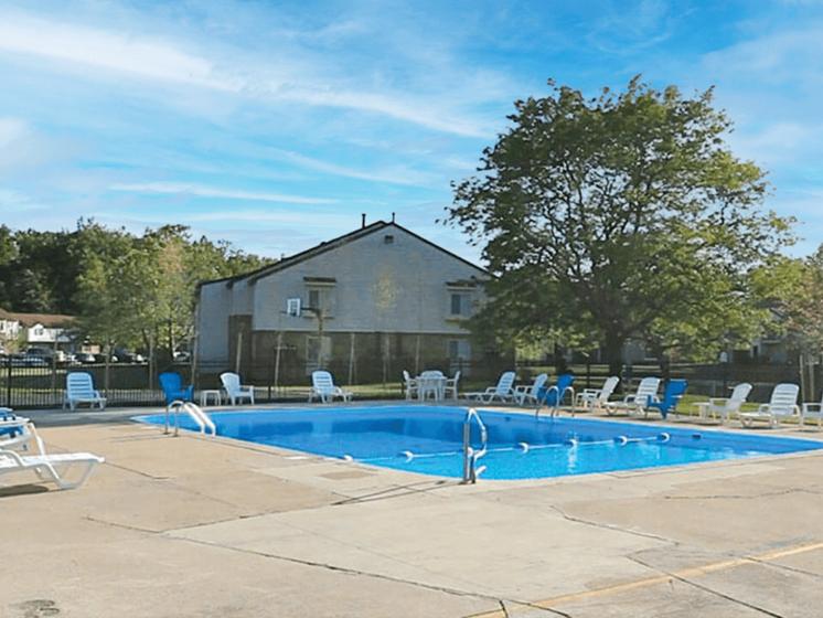 pool at apartments
