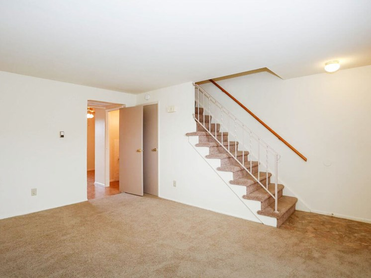 open floor plan at Pine Run Townhomes