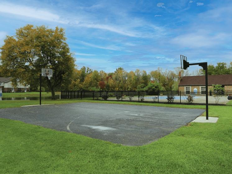 apartment community basketball court