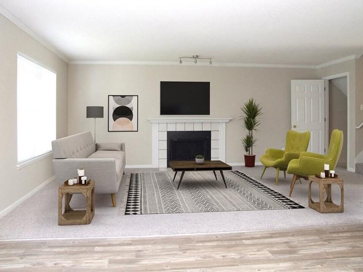 living room at Mariposa Townhomes