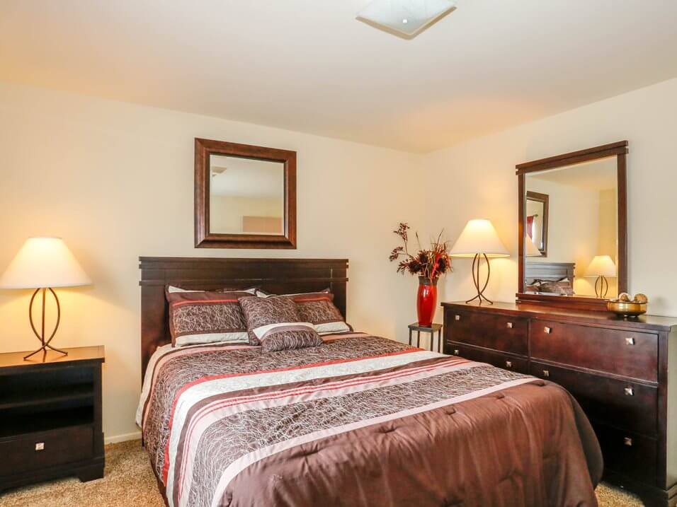 two bedroom townhomes at Pine Run Townhomes
