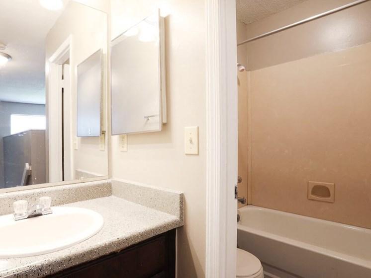 spacious bathrooms at Jackson TN apts