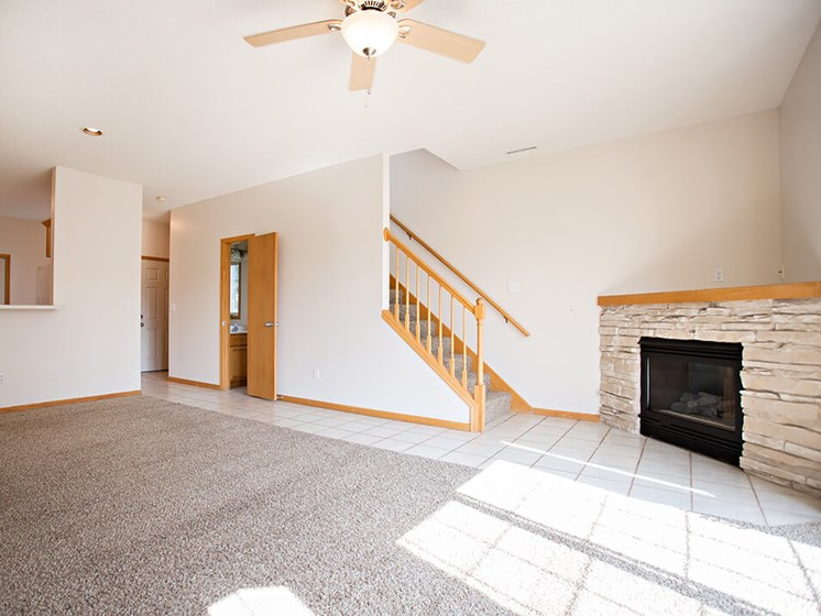 fireplace in Rochester mn Townhome