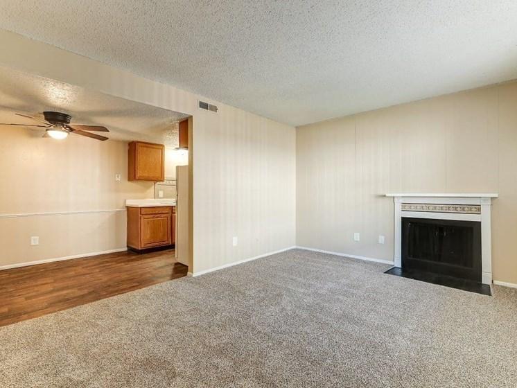 open apartment floor plan in Derby