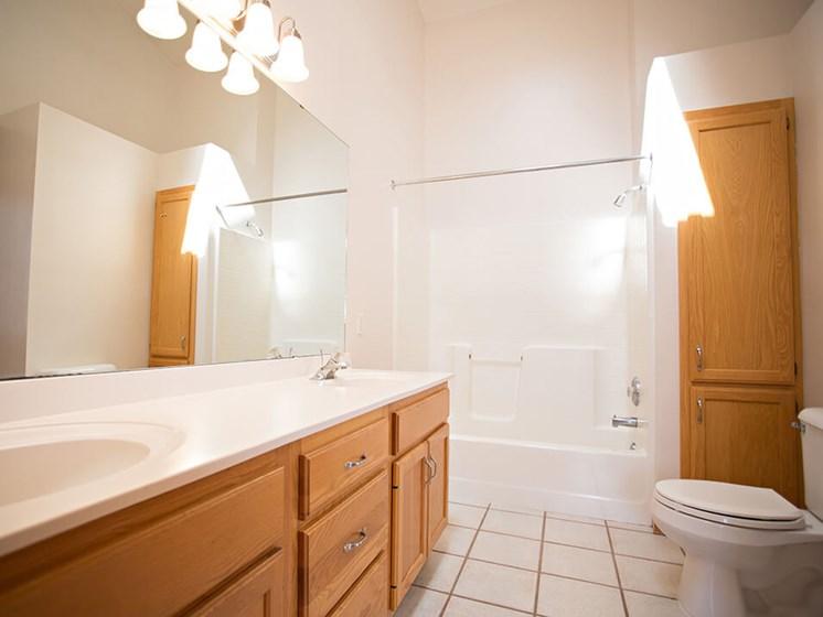large bathrooms at Crystal Bay townhomes