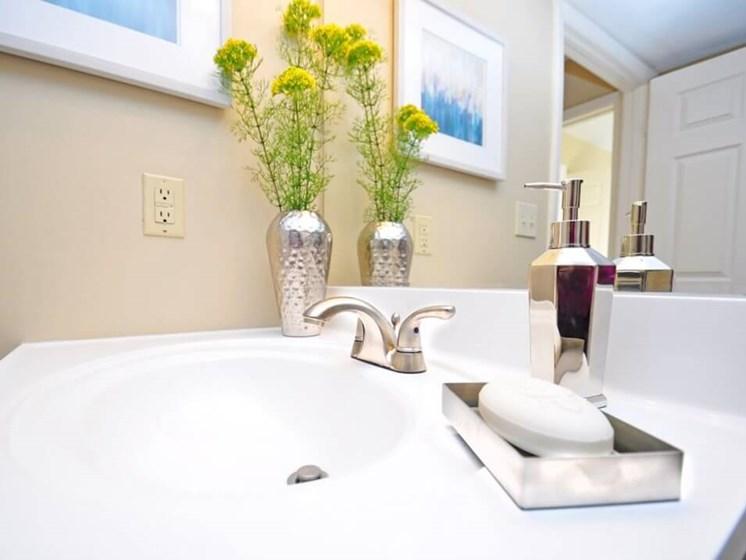 Bathroom fixtures at Apartments in Evansville IN