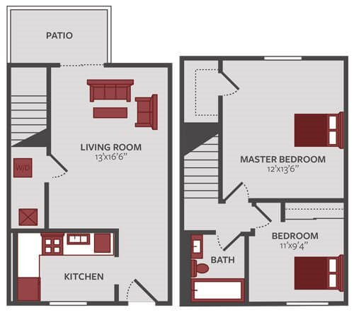 1 2 Bedroom Apartment Floor Plans For Rent Eagle Ridge Apartments