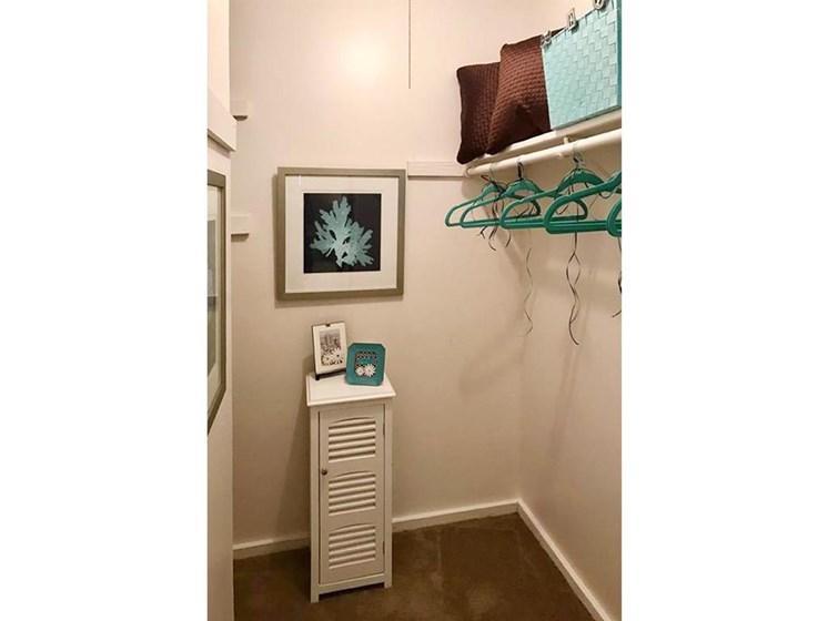 large closets at Arbors of Grandview apartments