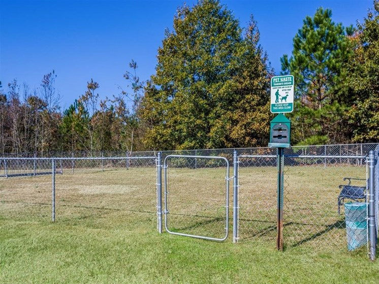 fenced in dog park at Fayetteville NC