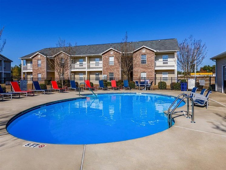 swimming pool at Fayetteville NC apts