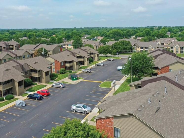 Villa West Apartments parking lot