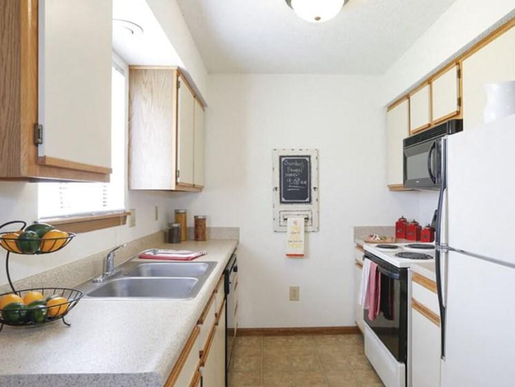spacious kitchens at Topeka apartments