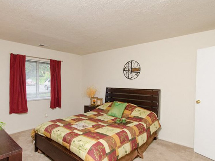 apartment bedroom with window