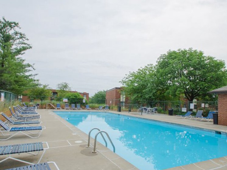 outdoor swimming pool at apartment