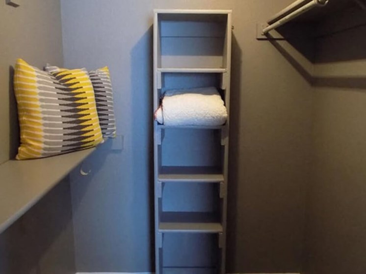 large closets at Fort Worth apartments