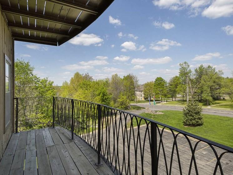private patio at The Ridge at Chesnut