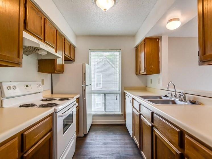 spacious kitchens at Kansas City MO apartments
