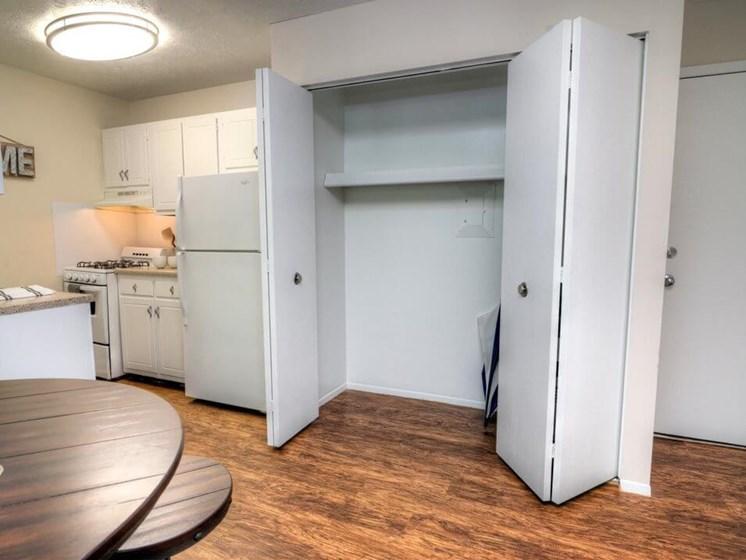 Pantry Storage in apartment kitchen