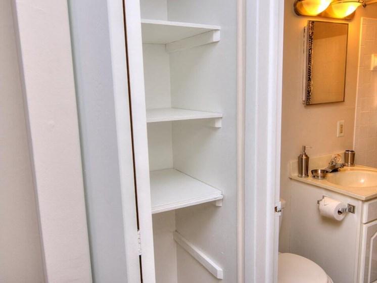 Linen Closet in Lakecrest Apartment