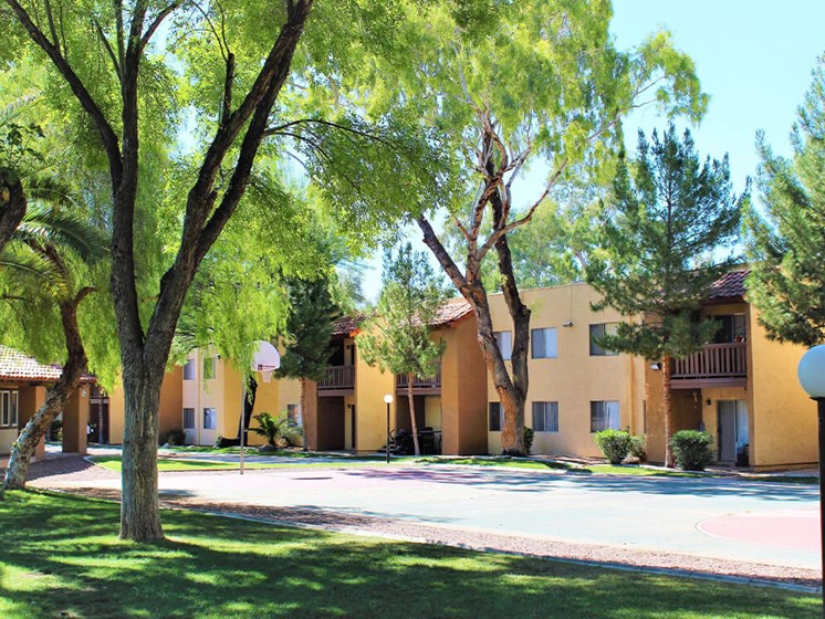 Basketball court at Solano Springs Apartments