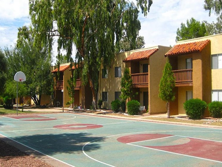 basketball court at apartment complex