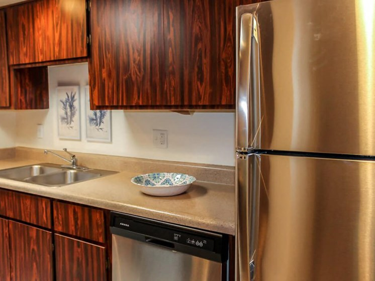 kitchen cabinets in apartment