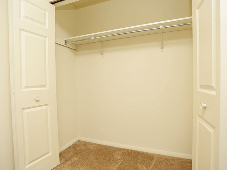 walk in closets at Indian Springs Apartments