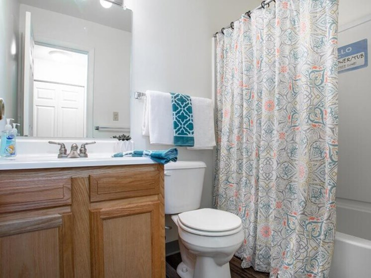 large bathrooms at Indian Springs Apartments