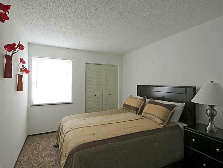 Bedroom at MacArthur's Lake Apartments