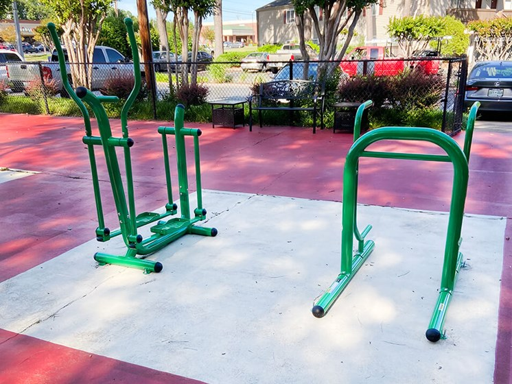 new outdoor fitness area
