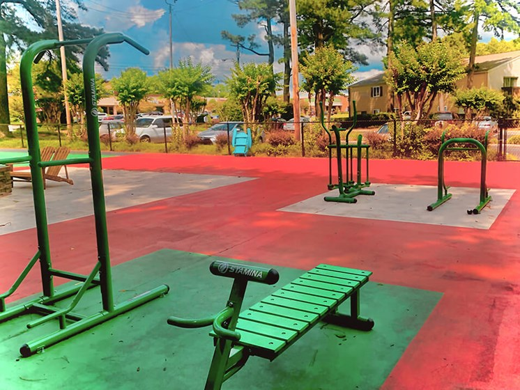 new outdoor fitness center