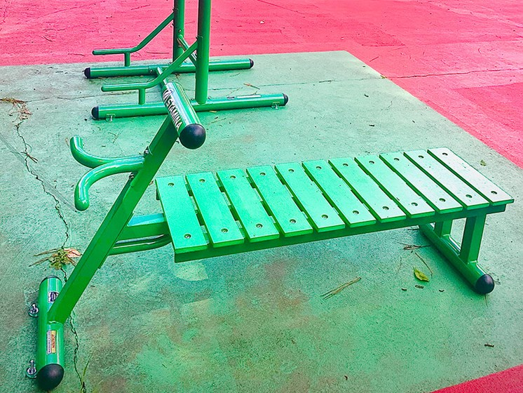 outdoor fitness center new