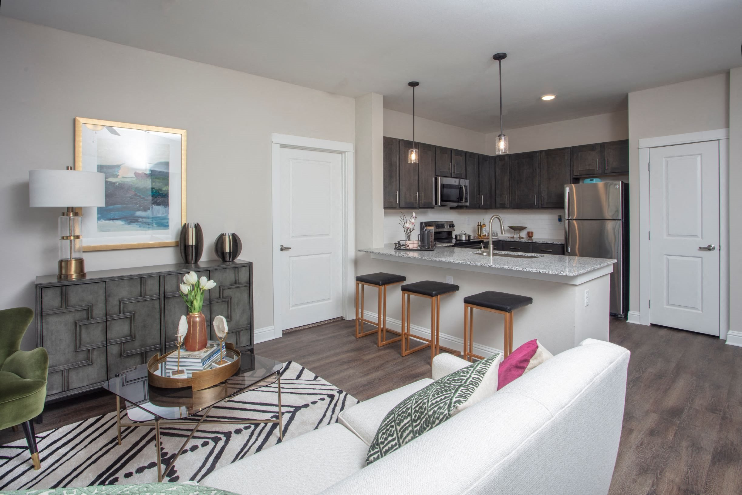 Kitchen and Living Room at Legacy at 2020