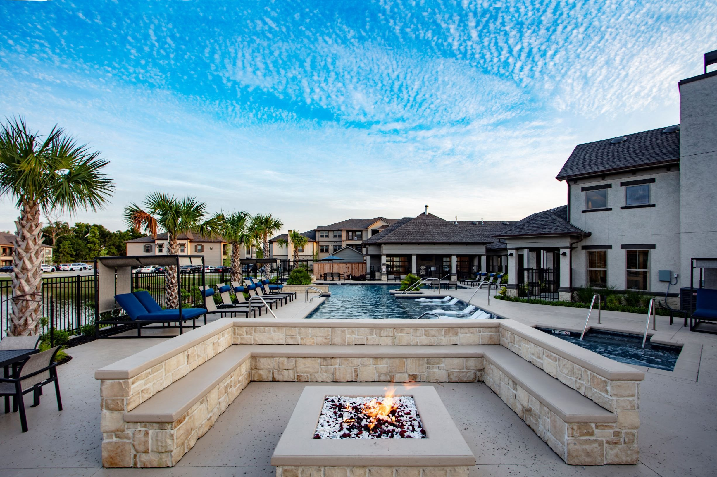 Pool and Fire Pit at Legacy at 2020