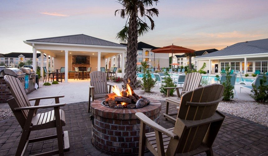 Poolside Fire Pit at Stephens Pointe, Wilmington, 28411