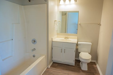 Spacious bathroom in your home at Deerbrook Apartments in Wilmington, NC 28405
