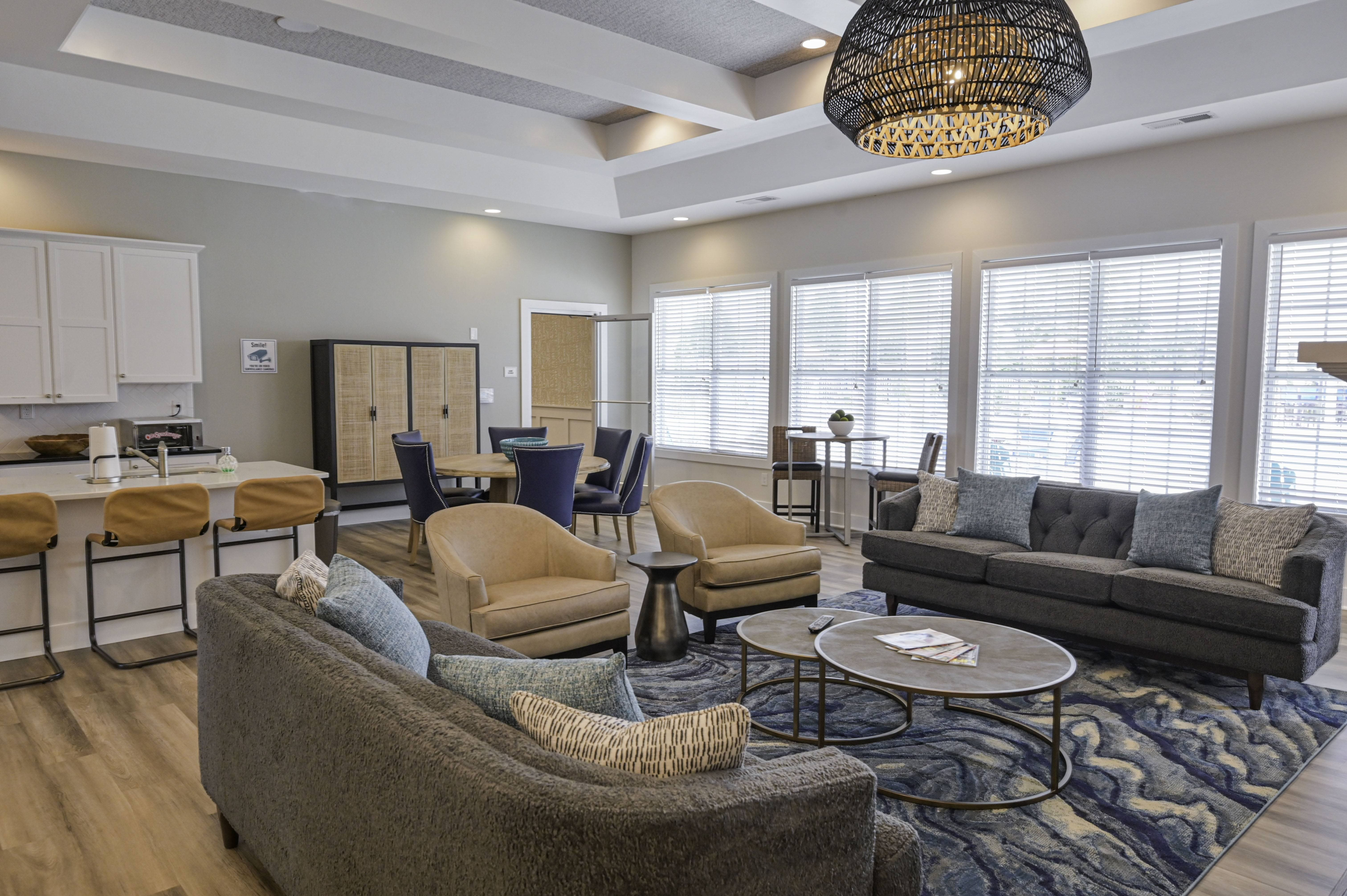 Clubhouse at Stephens Pointe Apartments in Wilmington, NC