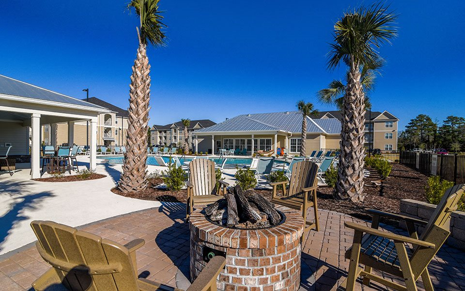 Outdoor Fire Pit at Stephens Pointe, Wilmington, 28411