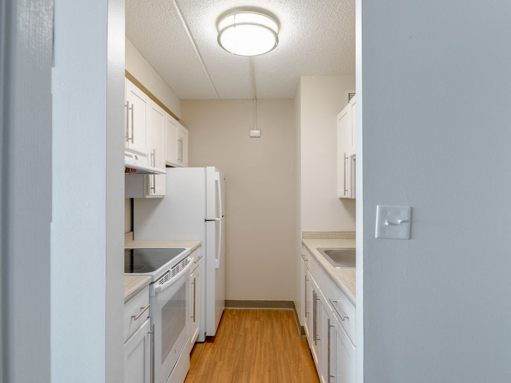 Updated kitchen at Quincy Tower in Boston, MA