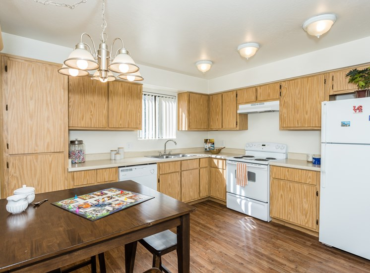 University Square Apartments Two Bedroom Kitchen