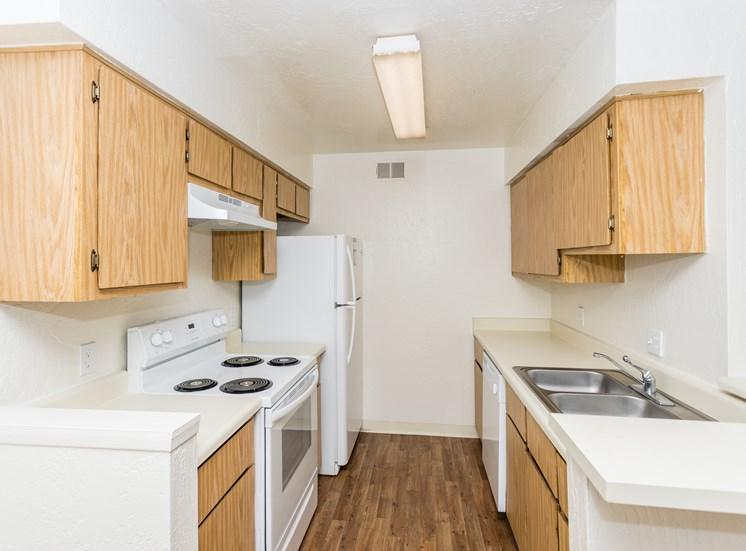 University Square Apartments One Bedroom Kitchen