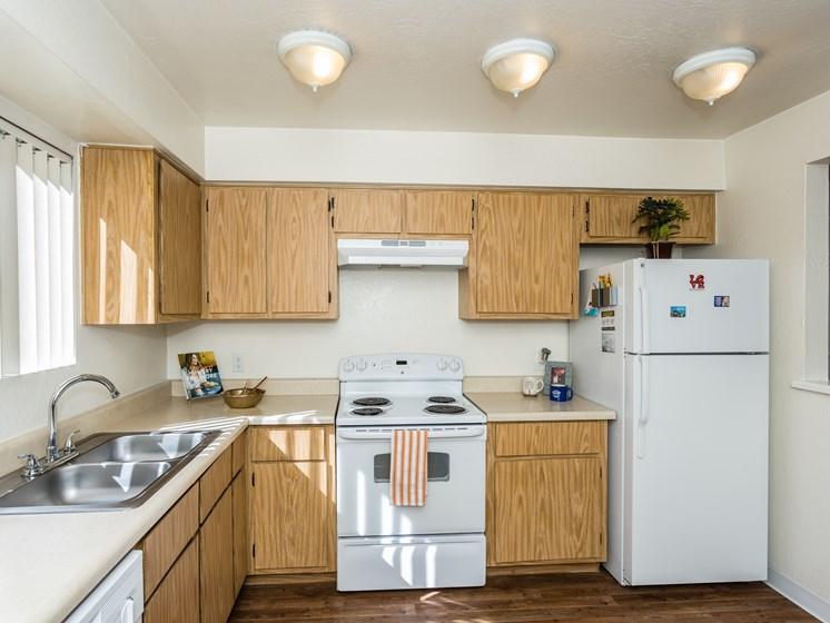 Two Bedroom Kitchenat University Square Apartments, Flagstaff, AZ