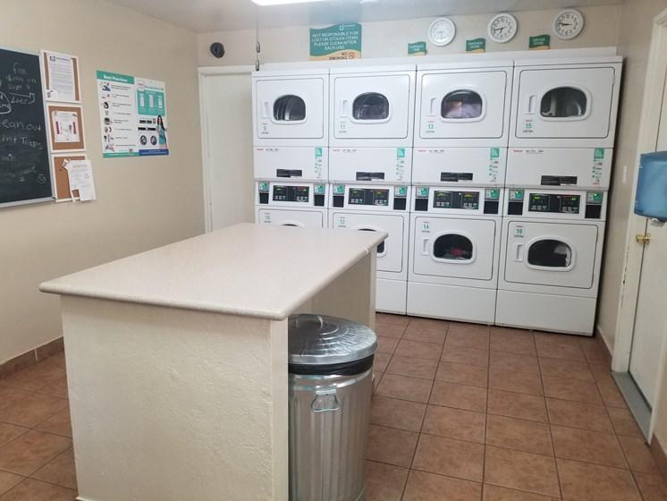 Dryers & Folding Counter at University Square Apartments, Arizona, 86001