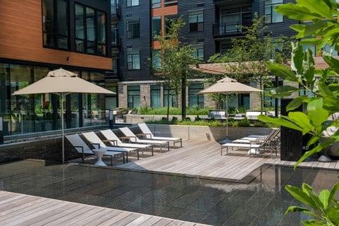 Arrowwood Apartments, North Bethesda, Maryland Courtyard