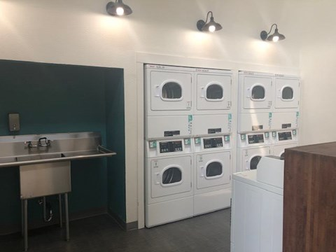 Waters Edge Apartment Interior Laundry Room