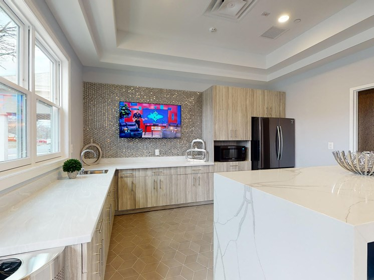 Clubhouse Kitchen at Rose Hill Apartments, Alexandria
