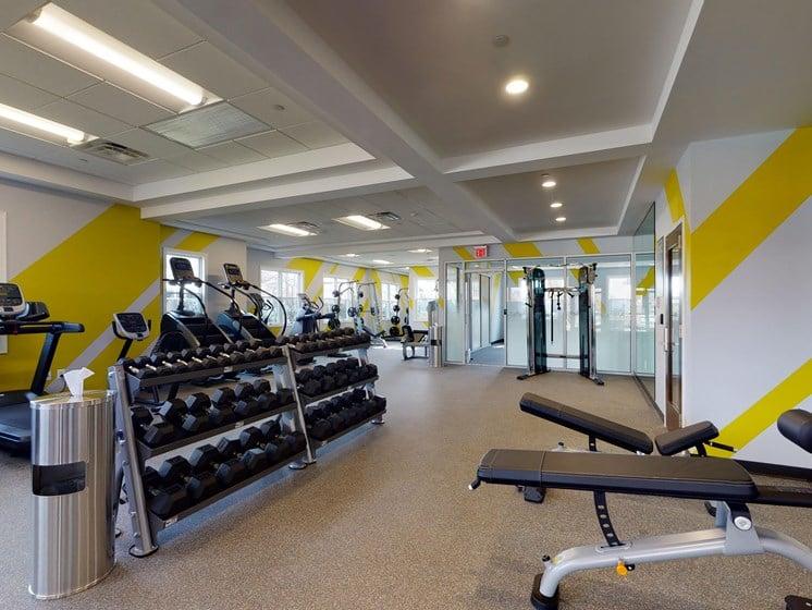 Fitness Studio Center Exercise Cardio Gym at Rose Hill Apartments, Alexandria
