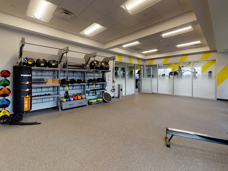 Modern Fitness Center at Rose Hill Apartments, Alexandria