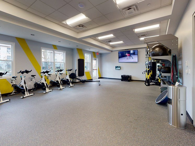 Spin Bike Exercise at Rose Hill Apartments, Virginia, 22310